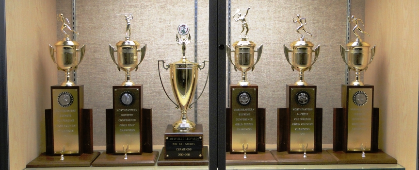 Louisville High School Trophy Case