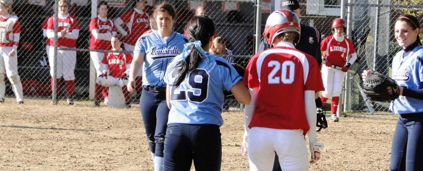 Carlee Baumgardner Louisville Lady Leopards Vs. Minerva Lions Softball
