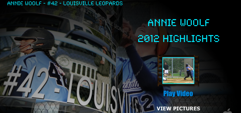 Annie Woolf Highlight Video DVD Louisville Lady Leopards