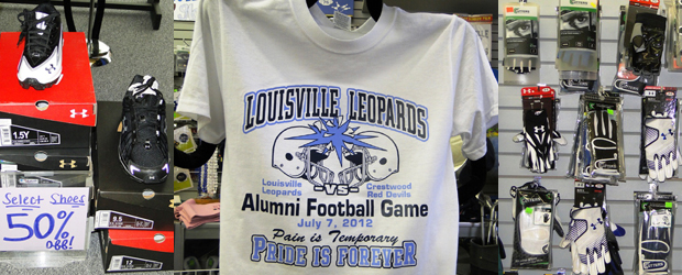 Beatty's Sports Football Shoes & Gloves Sale, Alumni Football T-Shirt
