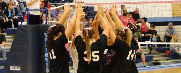 Louisville Lady Leopards Volley For a Cure 2012 Vs. Minerva Lions