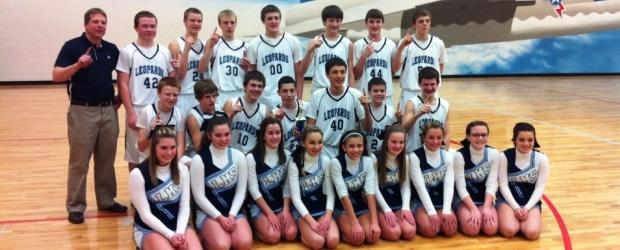 Louisville Leopards 8th Grade Boys Basketball NBC Champions
