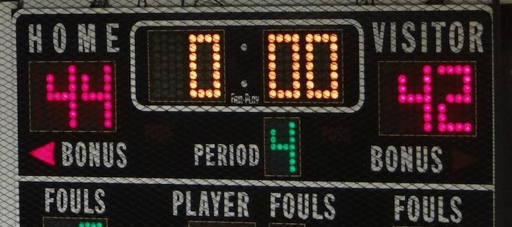 Marlington Dukes Basketball Scoreboard Gym