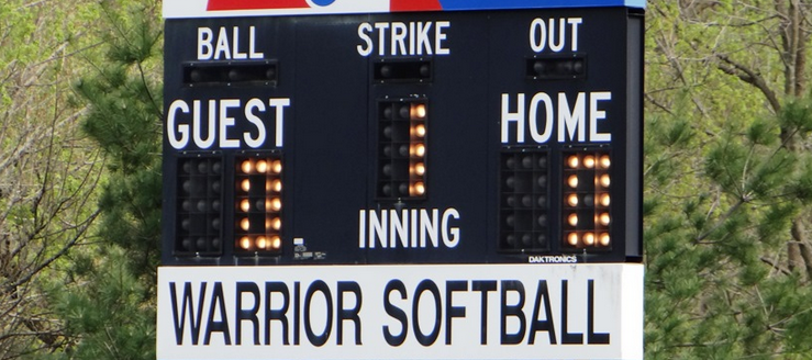 Carrollton Warriors Softball Scoreboard