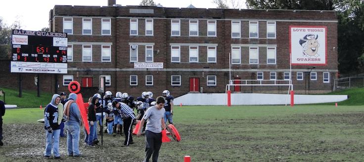 Salem Quakers Football Field, School & Scoreboard