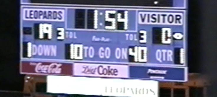 Louisville Leopards Old Scoreboard 2001