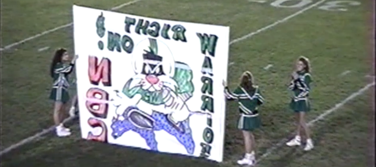 West Branch Warriors Football Cheerleaders 1994 Vs. Louisville Leopards