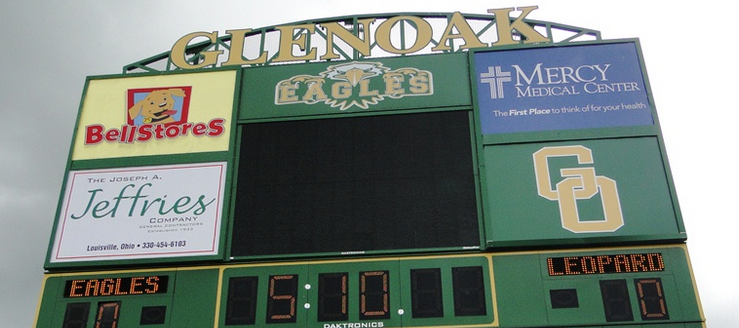 GlenOak Golden Eagles Football Scoreboard