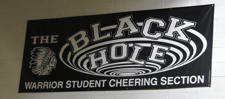 Black Hole Student Section Carrollton Warriors Gym