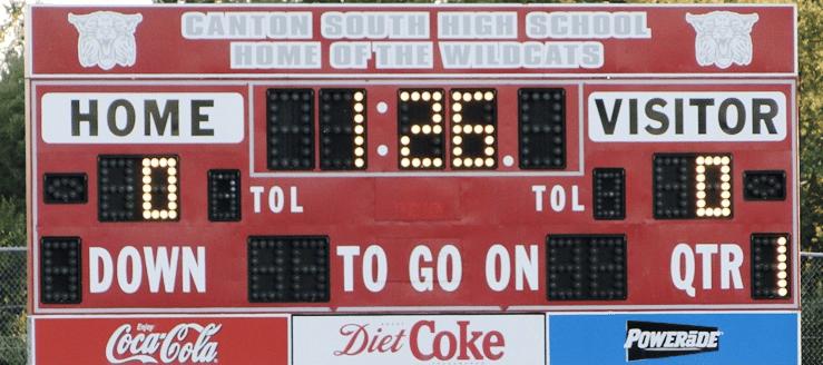 Canton South Wildcats Football Scoreboard