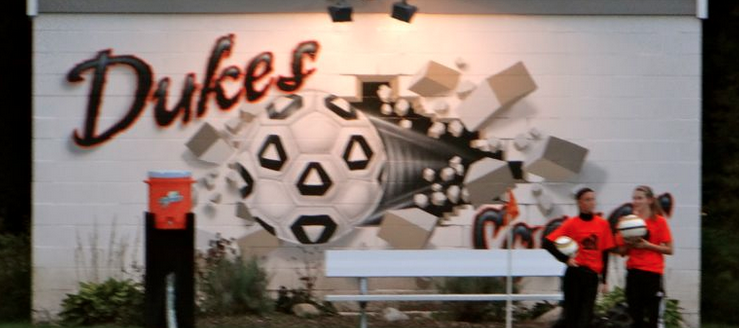 Marlington Dukes Soccer Stadium Complex Painting Art