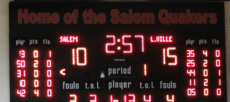 Salem Quakers Scoreboard John A. Cabas Gymnasium