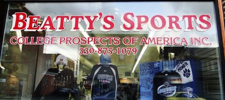 Beatty's Sports Storefront