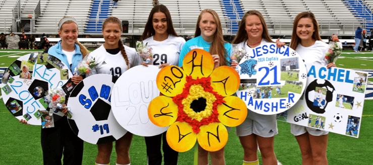 Louisville Leopards Girls Soccer Senor Day 2014