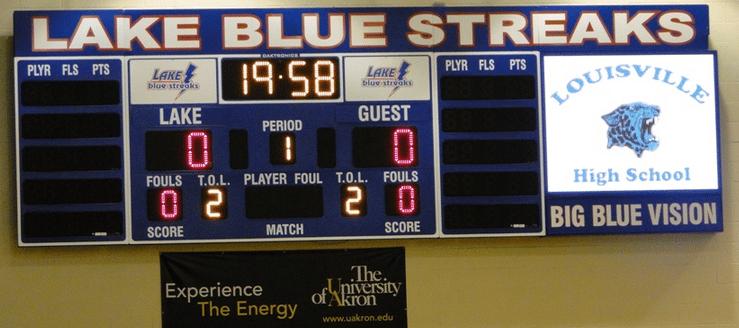 Lake Blue Streaks Gym Scoreboard Big Blue Vision