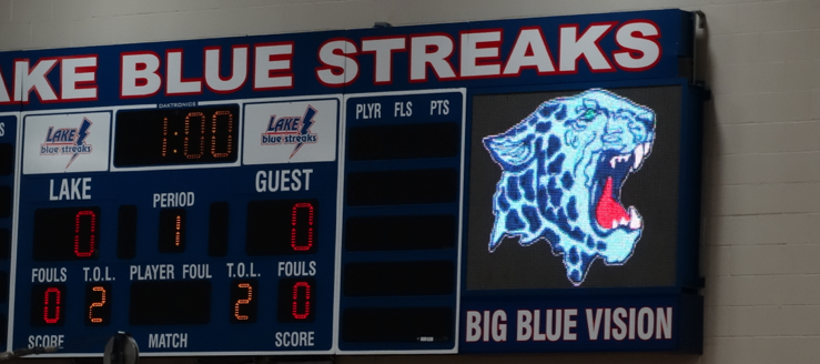 Big Blue Vision Scoreboard Lake High School Louisville Leopards