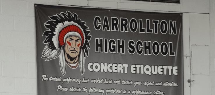 Carrollton Warriors Concert Etiquette Gym Poster