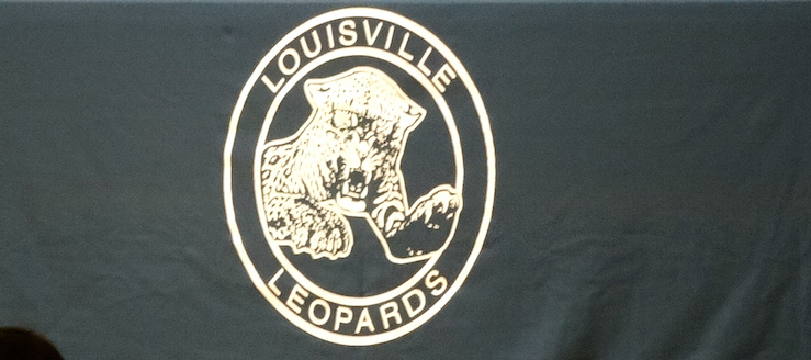 Louisville Leopards Old Logo Fall Sports Awards Recognition Night