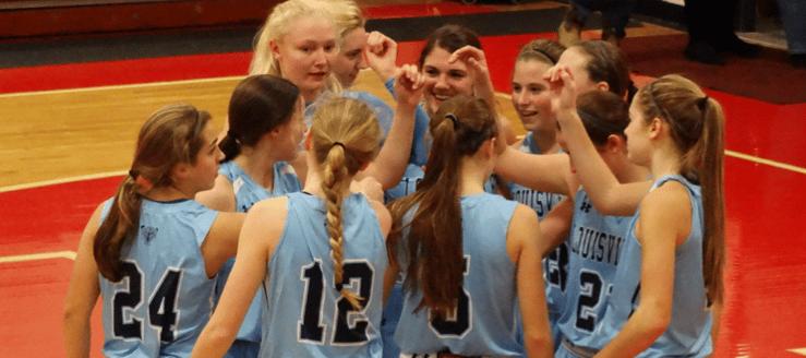Louisville Lady Leopards Girls Basketball Blue Road Jerseys 2014-15
