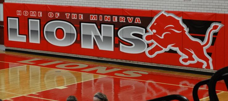 Minerva Lions Baseline Banner Gym