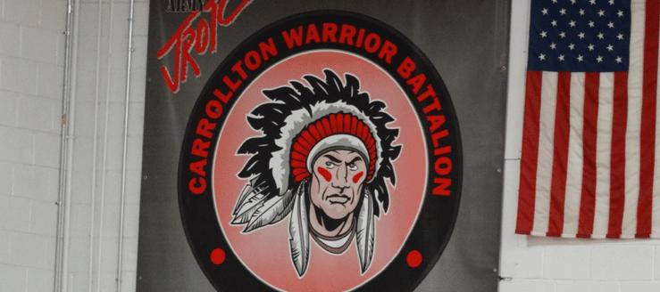 Carrollton Warrior Battalion Banner in Gym
