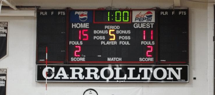 Carrollton Warriors Gym Scoreboard