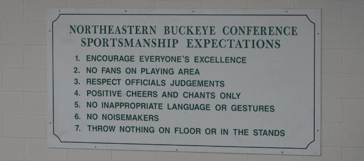Northeastern Buckeye Conference Sportsmanship Expectations West Branch Warriors Gym