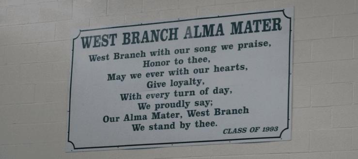 West Branch Warriors High School Alma Mater Gym