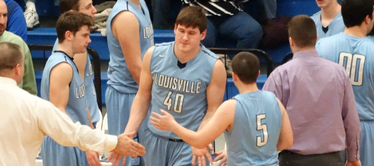 Blake Hoover Louisville Leopards Boys Basketball at Lake Blue Streaks 2015