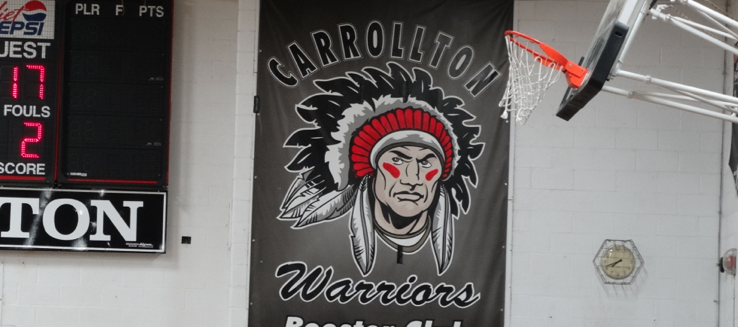 Carrollton Warriors Booster Club Banner in Gym