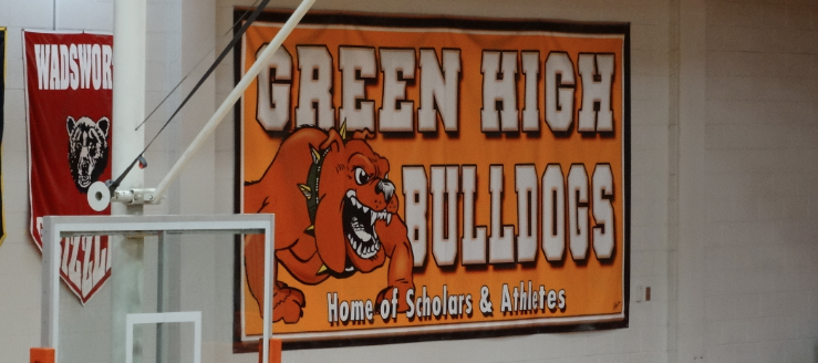 Green Bulldogs Home of Athletes and Scholars Gym Banner