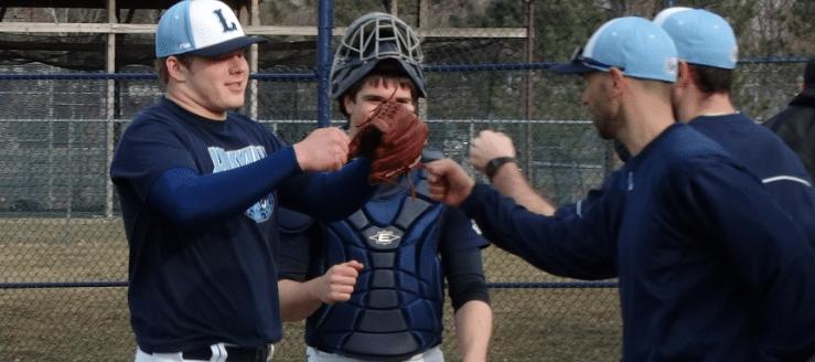 Issac Mathie and Head Coach Brian Warner Louisville Leopards Baseball 2015
