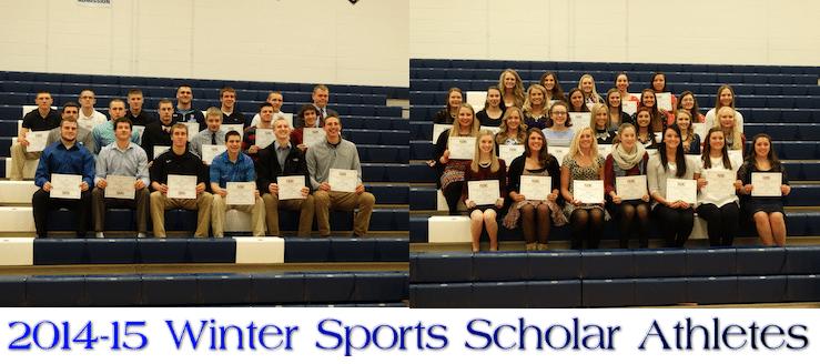 Louisville Leopards Winter Sports Scholar Athletes 2014-15