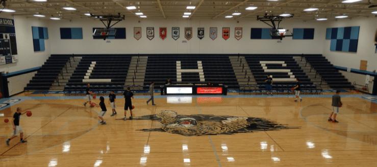 Louisville High School Gym Bleachers LHS Leopards