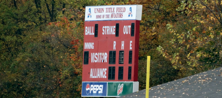 Union Title Field Scoreboard Alliance Aviators Softball
