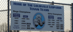 Home of the Louisville Leopards Tennis Teams Sign 2014 NBC