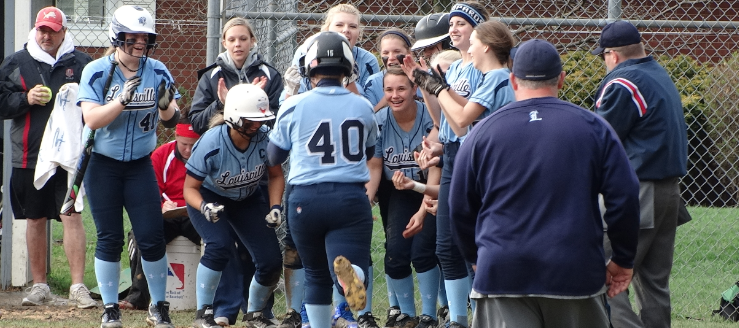 Katie Cozy Louisville Leopards Softball Career Home Run Record Tied