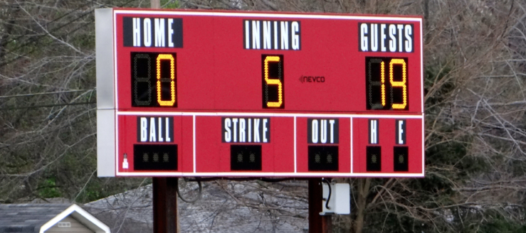 Salem Quakers Softball Scoreboard