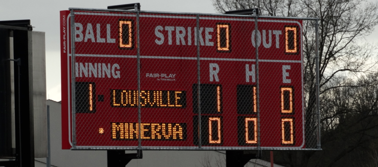Minerva Lions Softball Scoreboard New 2015