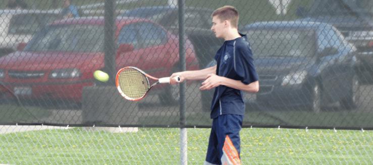 Ryan Richards Louisville Leopards Tennis Vs. Salem Quakers 2015