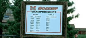 Marlington Dukes Soccer Championships Sign