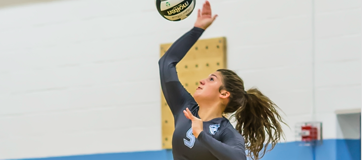Grace Jackson Louisville Leopards Volleyball 2015 Serving