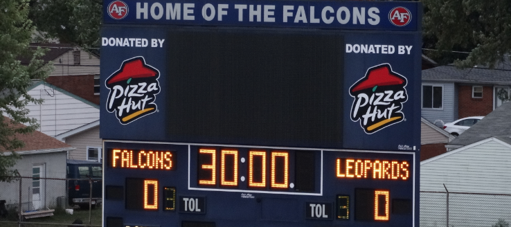 Austintown Fitch Falcon Stadium Scoreboard