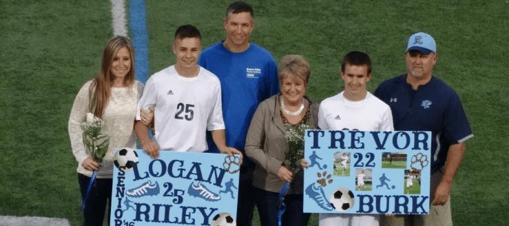 Louisville Leopards Boys Soccer Seniors 2015 Logan Riley and Trevor Burk