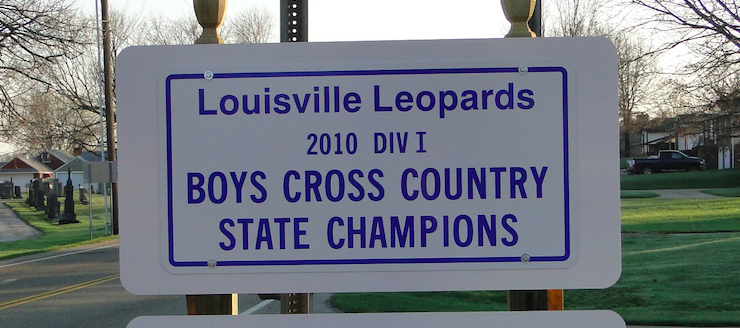 Louisville Leopards Divison I Cross Country State Champions 2010 Sign
