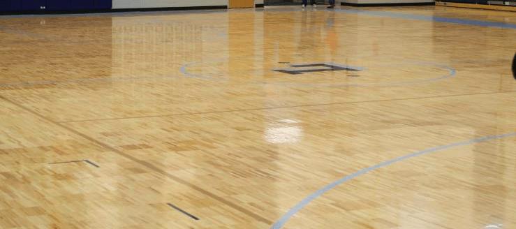 Louisville Elementary Gym Floor Leopards Freshman Basketball Court