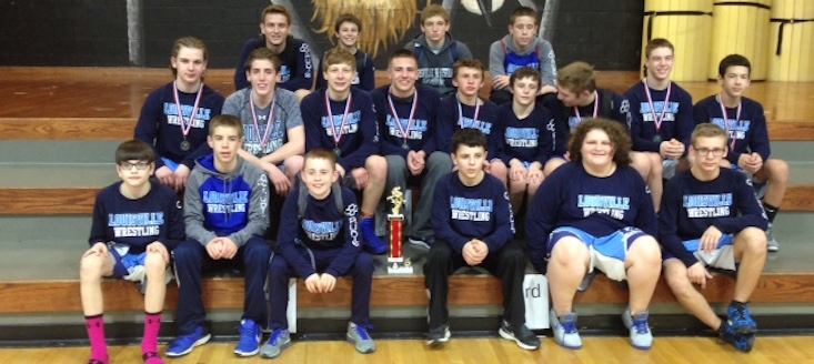 Louisville Leopards Middle School Wrestling 2015-16 NBC Champions