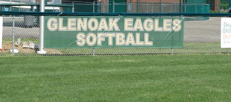 GlenOak Golden Eagles Softball Field Fence Banner