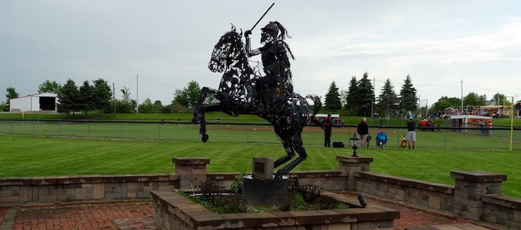 Marlington Dukes Horse Statue at Football & Softball Stadium