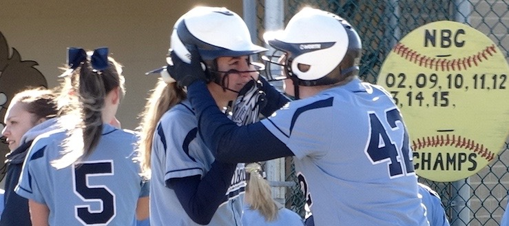 Rylee Squire and Aliyah English Louisville Leopards Softball 2016 Vs. Salem Quakers